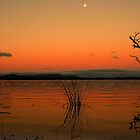 the sunset,moonrise by fazza