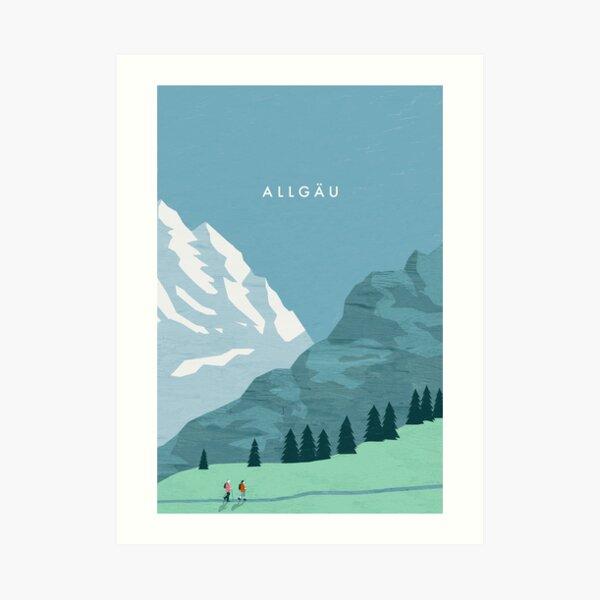 Allgäu travel poster Art Print