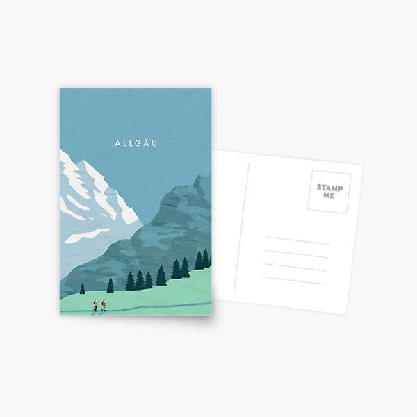 Allgäu travel poster Postcard