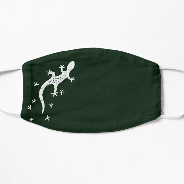 Retro Lizard Drawing With Tracks   Artsy Vintage Gecko Flat Mask