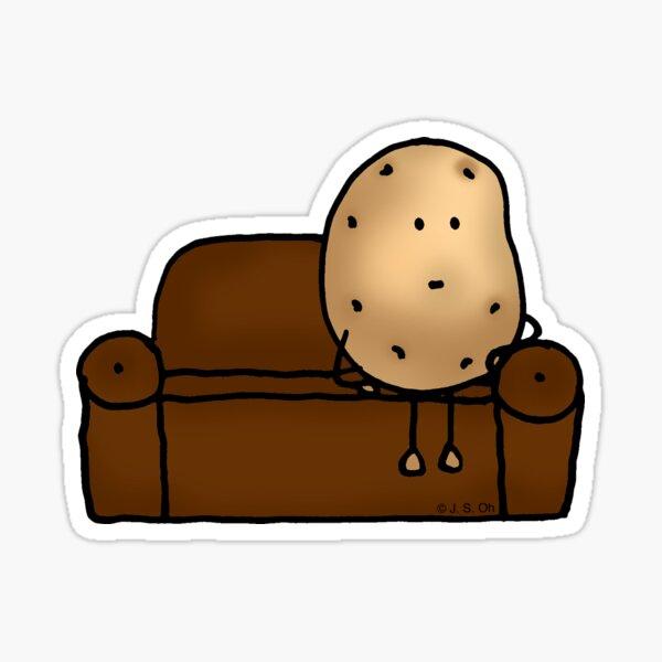 Funny couch potato cartoon Sticker