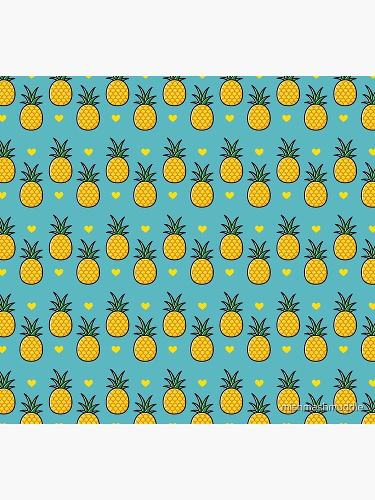 Pineapple Tiki Love (Blue) by mishmashmuddle