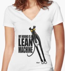 Camiseta entallada de cuello en V Máquina Lean
