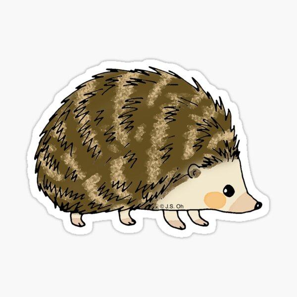 Adorable hedgehog cartoon Sticker