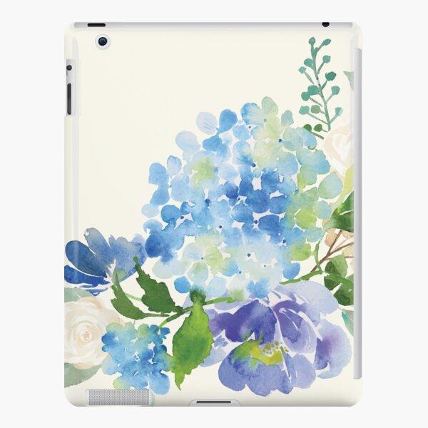 Blue Watercolor Hydrangea iPad Snap Case