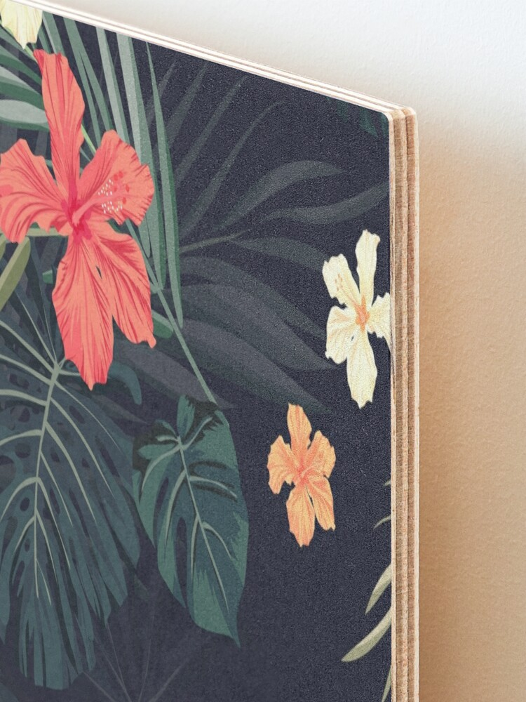 Alternate view of Dark tropical flowers Mounted Print