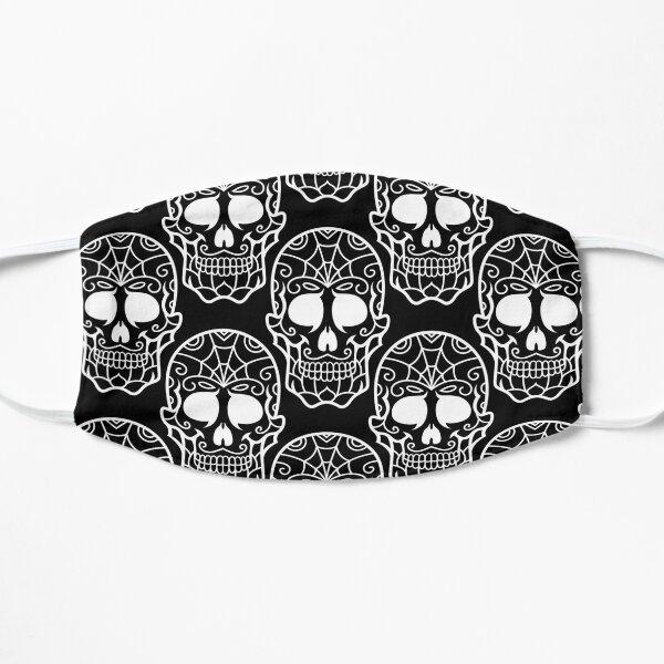 Black and White Skulls Pattern Flat Mask