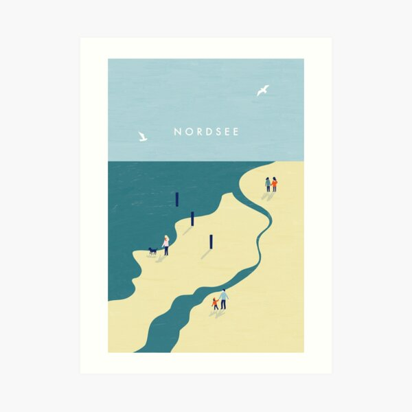 Nordsee Travel Poster Kunstdruck