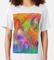 DeepDream Tomato Steelblue 5x5K v10 Slim Fit T-Shirt