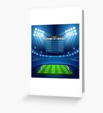Football Stadium Background Greeting Card