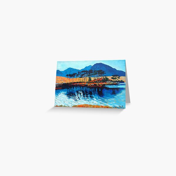 Pine Island, Derryclare (Co. Galway, Ireland) Greeting Card