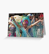 Many Faces Of The Coney Island Mermaid Parade -4 Greeting Card
