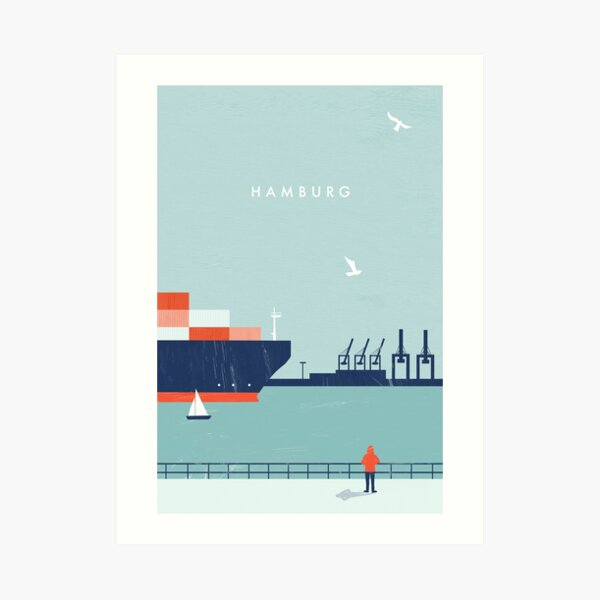 Hamburg Travel Poster Kunstdruck