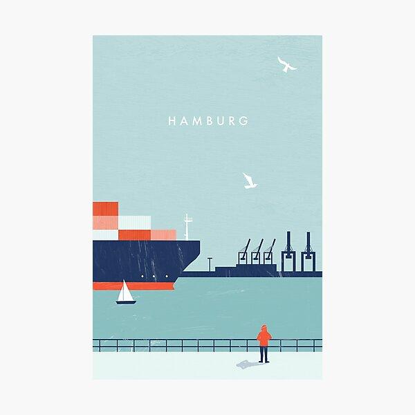 Hamburg Travel Poster Photographic Print
