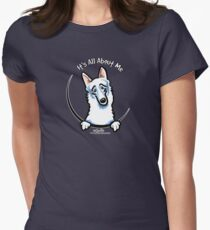 White German Shepherd :: Its All About Me Womens Fitted T-Shirt