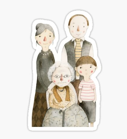 Family Portrait II Sticker