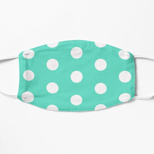 Aqua Polka Dots Mask