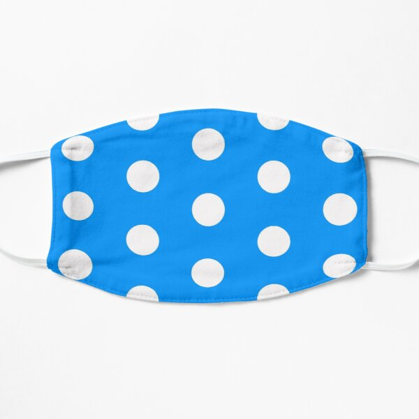 Blue Polka Dots Flat Mask