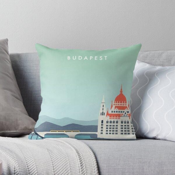Budapest Travel Poster Dekokissen