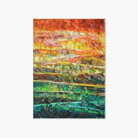 abstract landscape Art Board Print