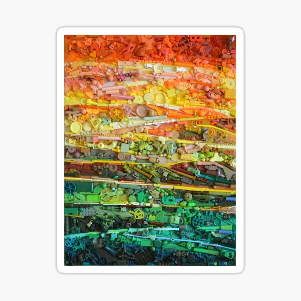 abstract landscape Sticker