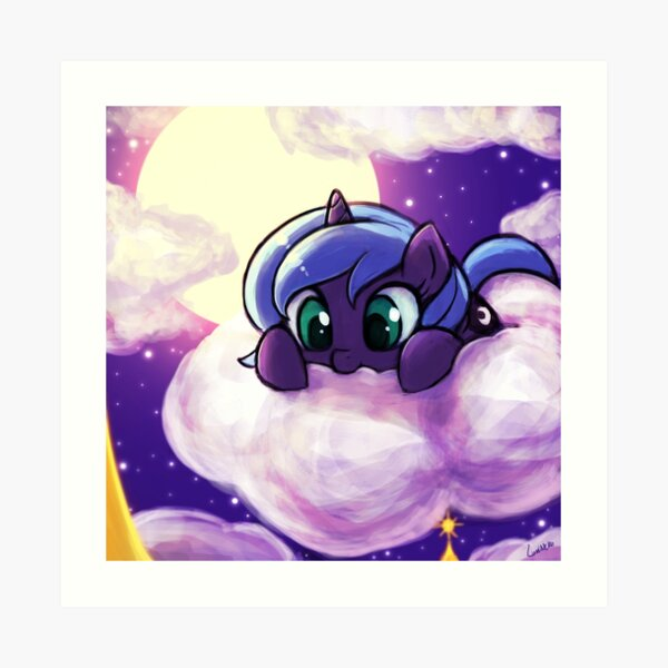Nom on the cloud princess! Art Print