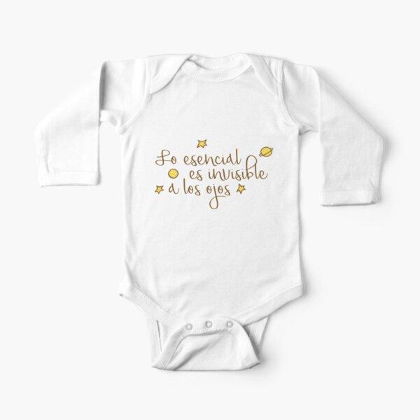 Lo esencial es invisible a los ojos Body de manga larga para bebé
