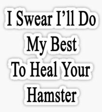 I Swear I'll Do My Best To Heal Your Hamster  Sticker