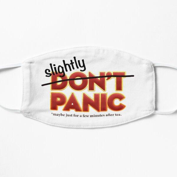 """Slightly Panic"" Hitchhiker's Guide cover slightly altered for today's coronavirus news Flat Mask"