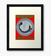 Harvar' nice day. Mk.II - T Shirt Framed Print