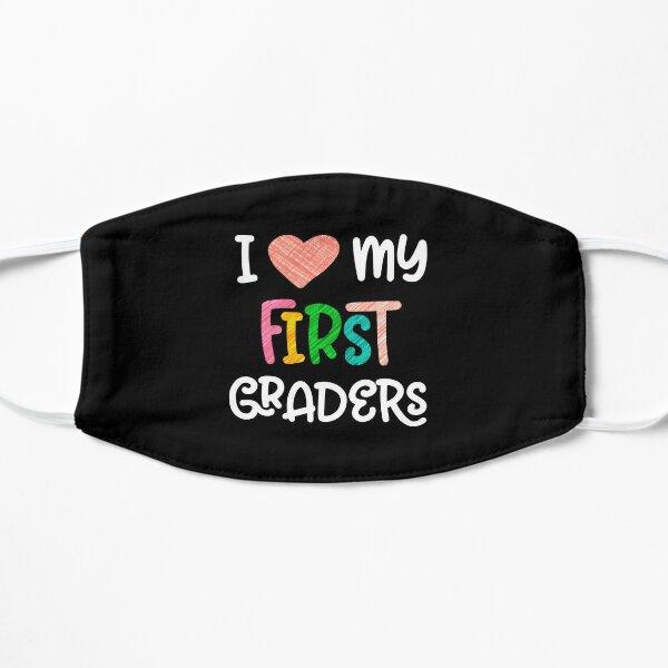 1st Grade Teacher Love First Graders School Class Colorful design Flat Mask