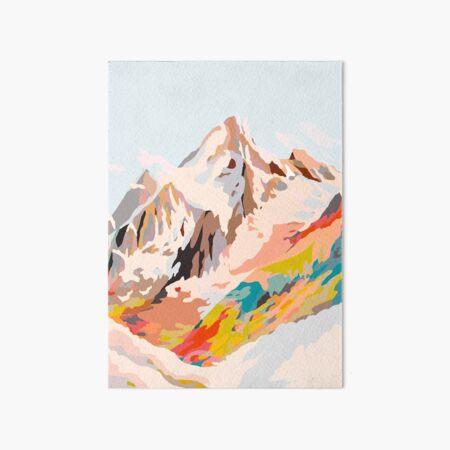 glass mountains Art Board Print