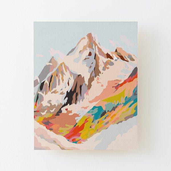 glass mountains Wood Mounted Print