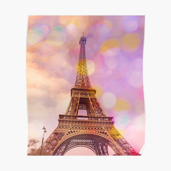 Eiffel Tower Sunset Poster
