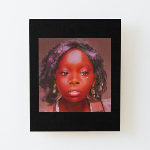 Zola red skin portrait Wood Mounted Print