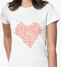 Prickly Heart. Womens Fitted T-Shirt