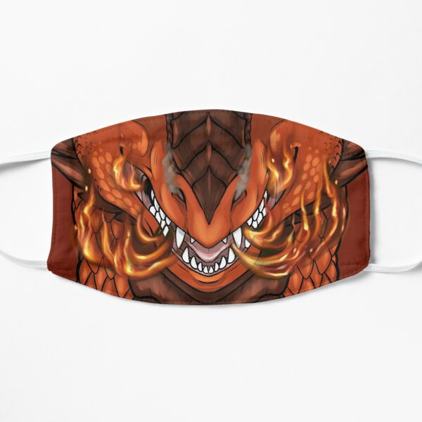 Fire Dragon Mask Flat Mask