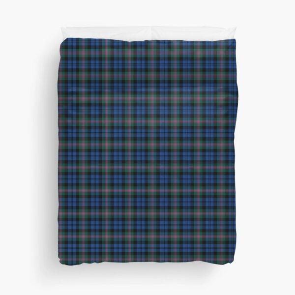 Clan Baird Tartan Blue and Green Plaid Duvet Cover