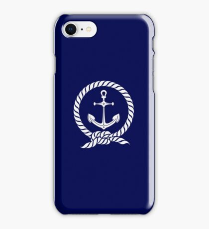 Anchor in a Rope Circle VRS2 iPhone Case/Skin