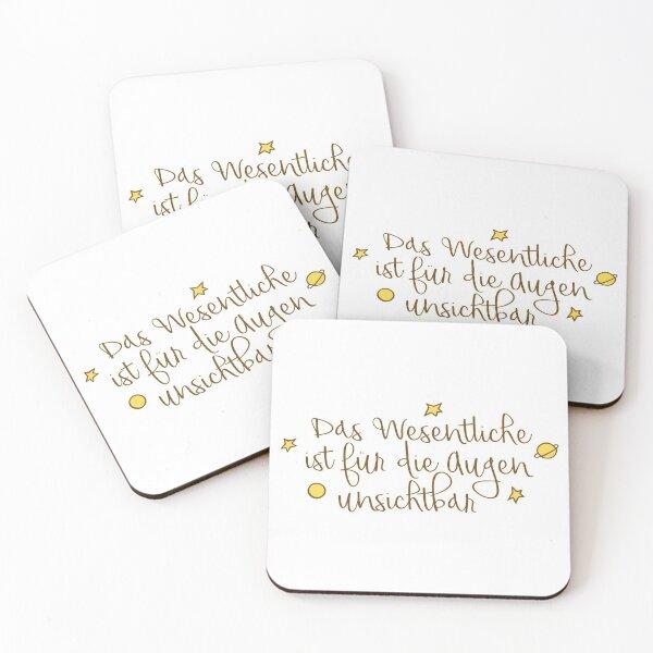 Das Wesentliche ist für die Augen unsichtbar Coasters (Set of 4)