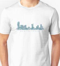 Austin, Texas Skyline Vintage Blue Unisex T-Shirt