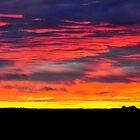 SUNSET  -  Coward Springs  -  South Australia by Leslie-Ann