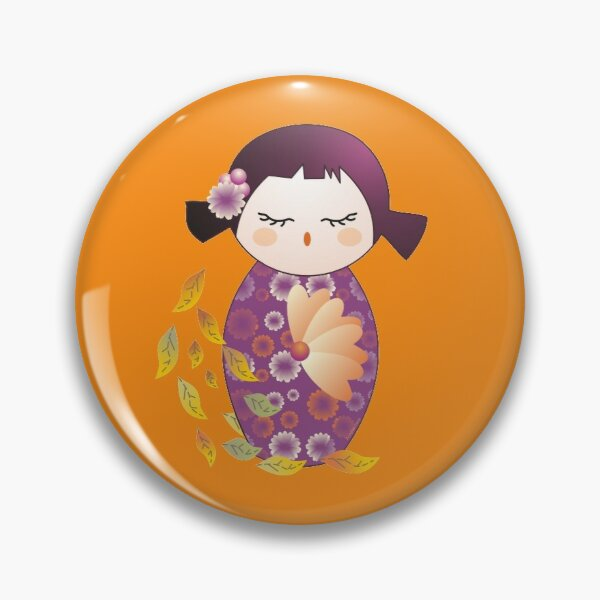 Kokeshi Autumn Pin