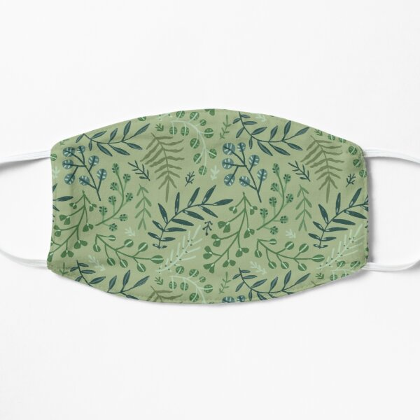 green leaves. leaf. nature. wild floral flowers Mask