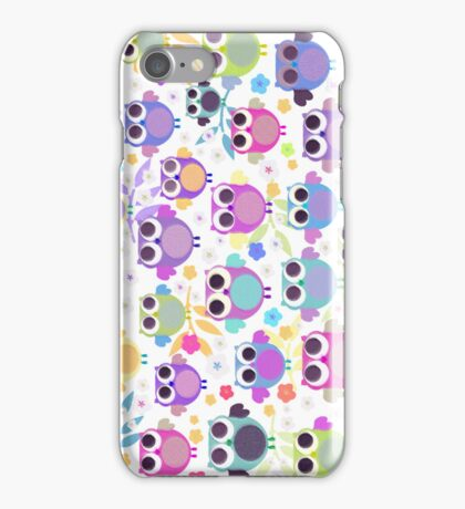 owls & blossoms iPhone Case/Skin