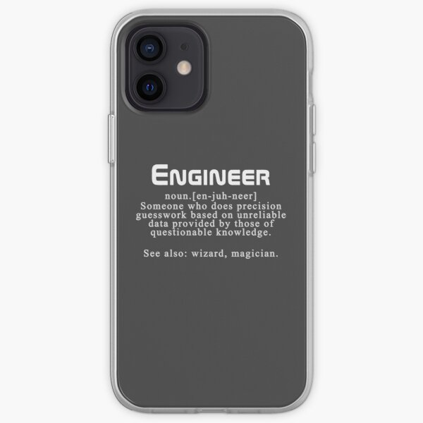 """Meaning of the word """"engineer"""" iPhone Soft Case"""