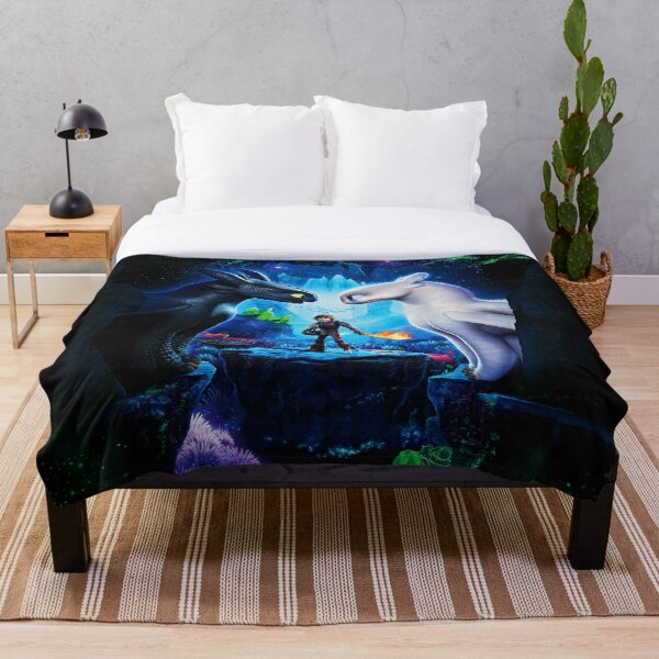 How to train Your Dragon The Hidden World Oil Base Throw Blanket