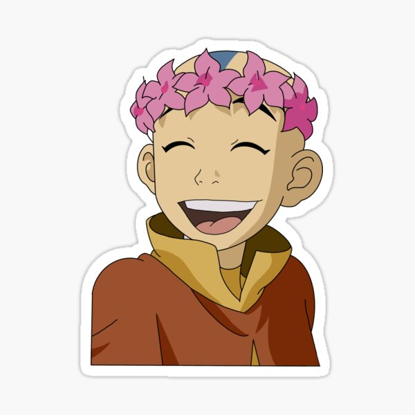 Flower crown Aang Sticker