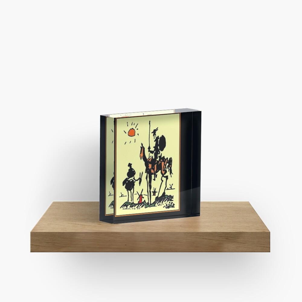 DON QUIXOTE : Vintage 1955 Picasso Painting Print Acrylic Block