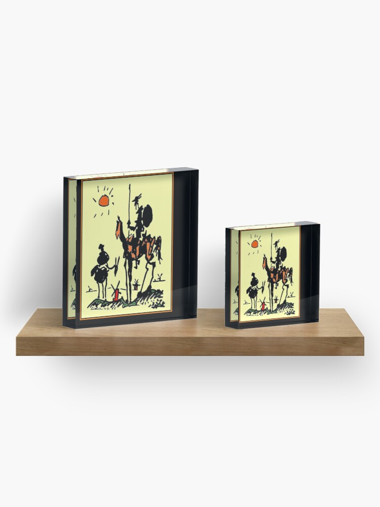 Alternate view of DON QUIXOTE : Vintage 1955 Picasso Painting Print Acrylic Block